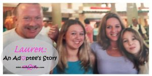 National Adoption Month Series: Lauren's Adoptee Story