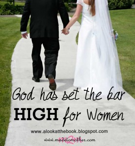 God Has Set the Bar High For Women – Guest Post for A Look at the Book