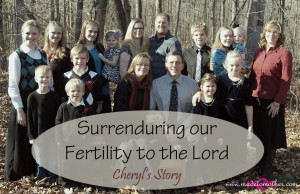 Surrendering Fertility to the Lord, Even When He Takes the Baby Back – Cheryl's Story