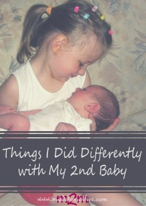Things I did Differently with My 2nd Baby – Guest Post by Tracey