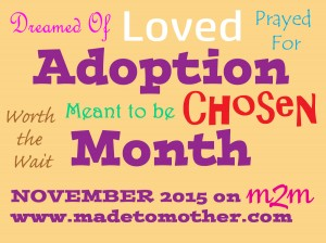 National Adoption Month Series – Vera's Story