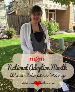 National Adoption Month Series – Ali's Adoptee Story
