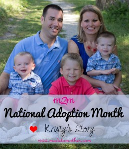National Adoption Month Series – Kristy's Story