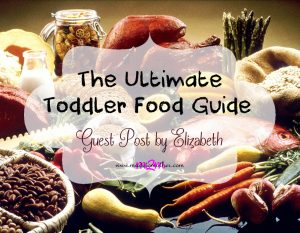 The Ultimate Toddler Food Guide – Guest Post by Elizabeth