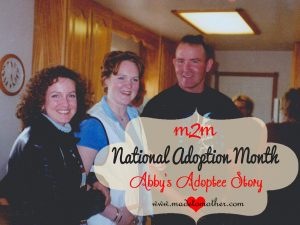 National Adoption Month Series – Abby's Adoptee Story