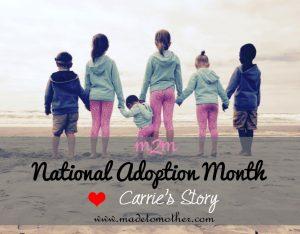 National Adoption Month Series – Carrie's Adoption Story