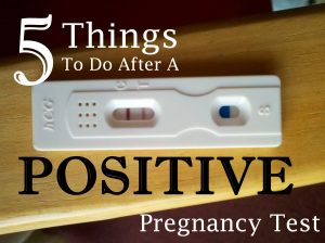 5 Things to Do After a Postive Pregnancy Test {$50 Gift Card GIVEAWAY}