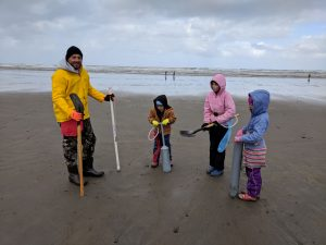 Razor Clam Digging on the Washington State Coast